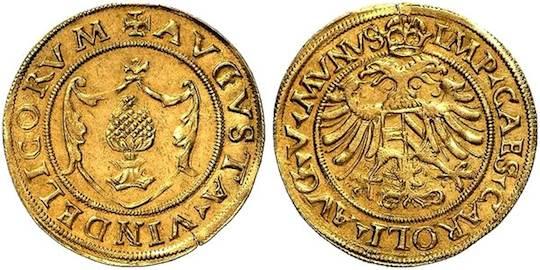 Augsburg, Reichsstadt, Goldgulden o. J. (1519-1556)