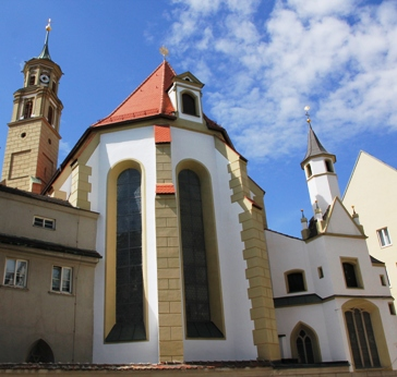 St. Anna, Ostchor mit Goldschmiedekapelle