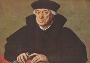 Mercurino Arborio di Gattinara, Großkanzler Kaiser Karls V., Gemälde von Jan Cornelisz Vermeyen (Öl auf Leinwald, um 1530); Standort: Königliche Museen der Schönen Künste von Belgien in Brüssel