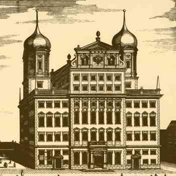 Augsburger Rathaus als Merianstich